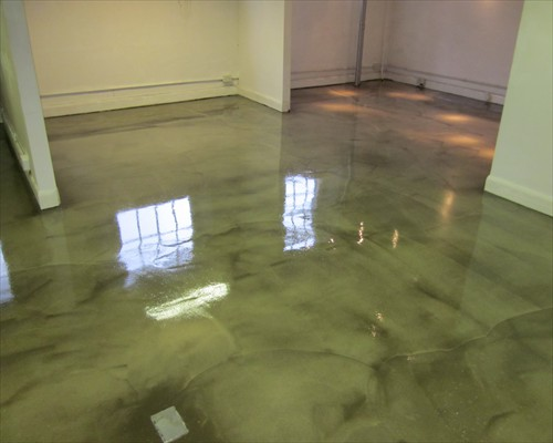 High Gloss Polished Concrete  Overlay Retail Showroom London