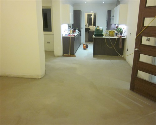 decorative concrete floors residential.  microscreed decorative concrete flooring installation at residential property in Aberdeen Scotland Microscreed