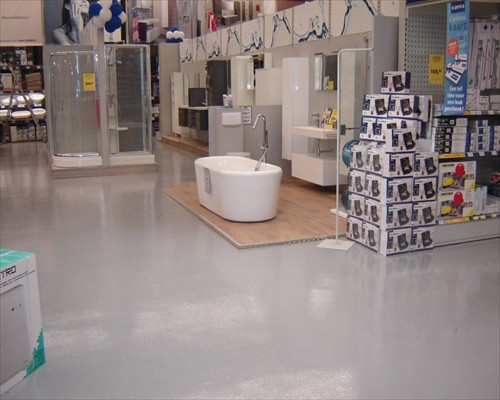 Polished Concrete  Retail DIY store Coventry