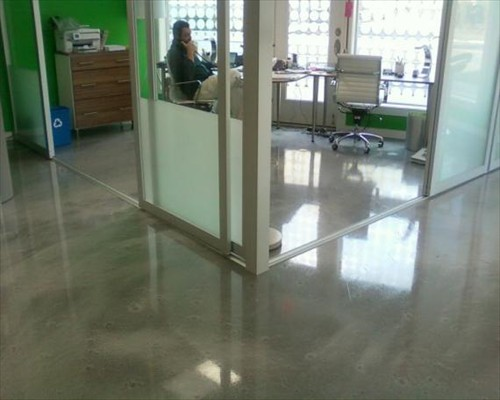Poured Micro Concrete Flooring office suite Edinburgh