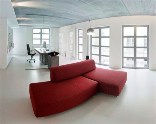 Seamless Matt Comfort Flooring Open Plan Office London